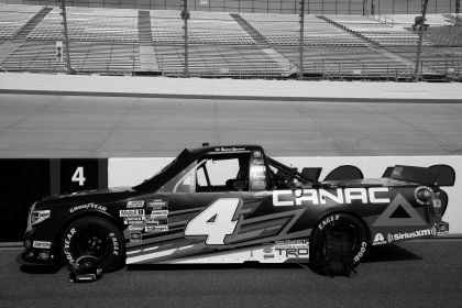 Raphael Lessard on his way to Talladega...