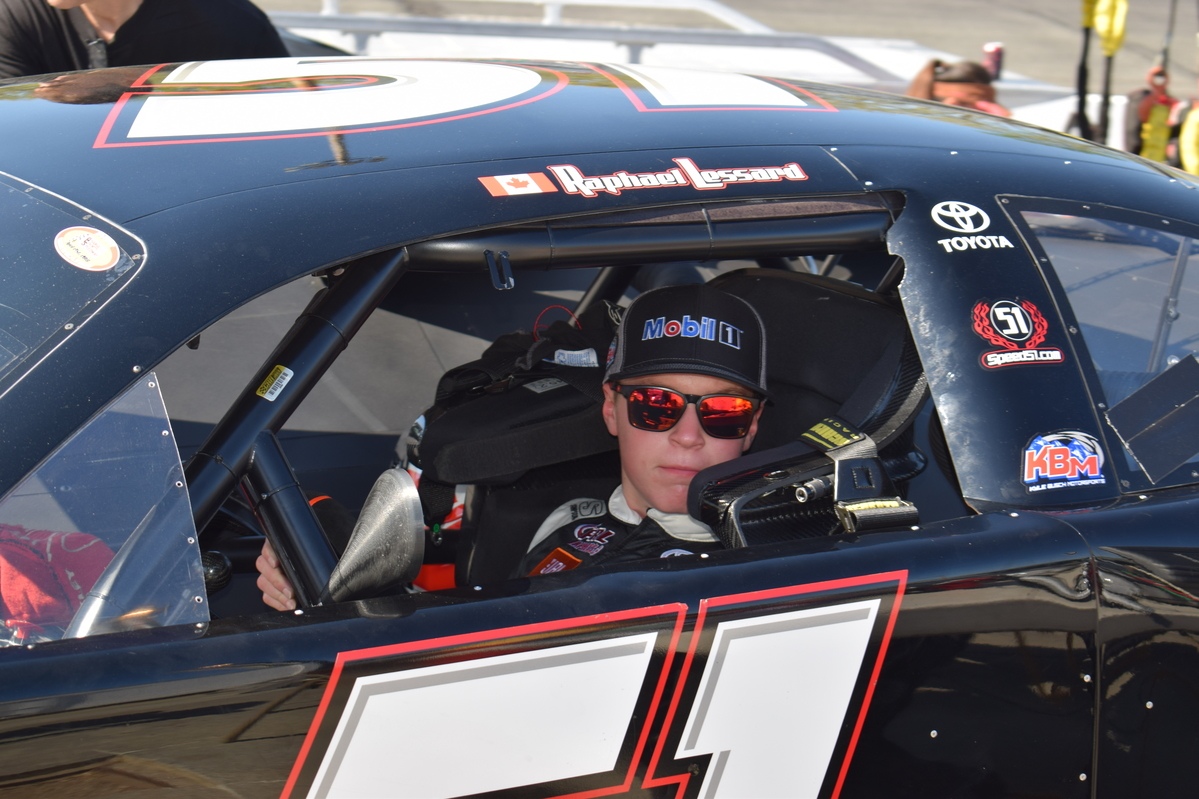 RAPHA�L LESSARD FINISHES JUST SHORT OF THE PODIUM AT THE ORANGE COUNTY SPEEDWAY
